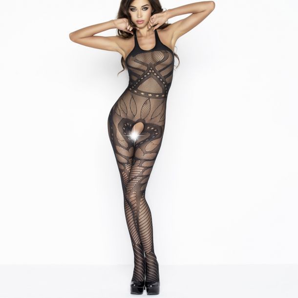 Neckholder Bodystocking BS037 - Black*