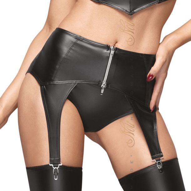 Wet Look Garter Belt F166