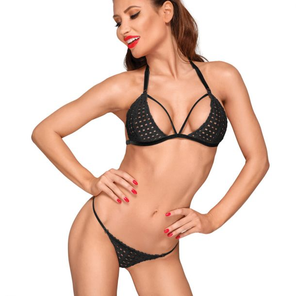 Set Bra und G-String F181 in Lattice Look