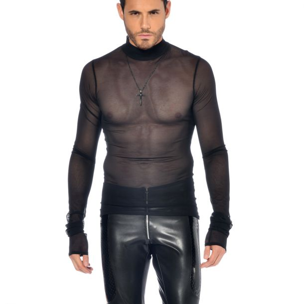 Long Sleeve Mesh Shirt SNOW - Black