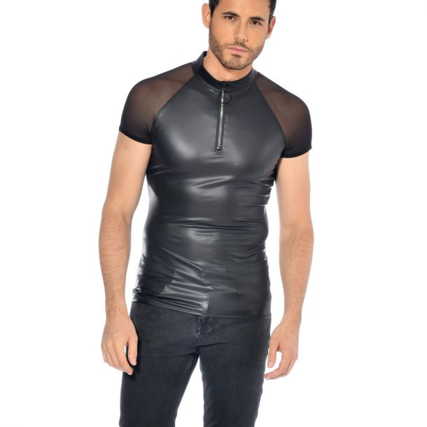 Wet Look T-Shirt KHALT - Black