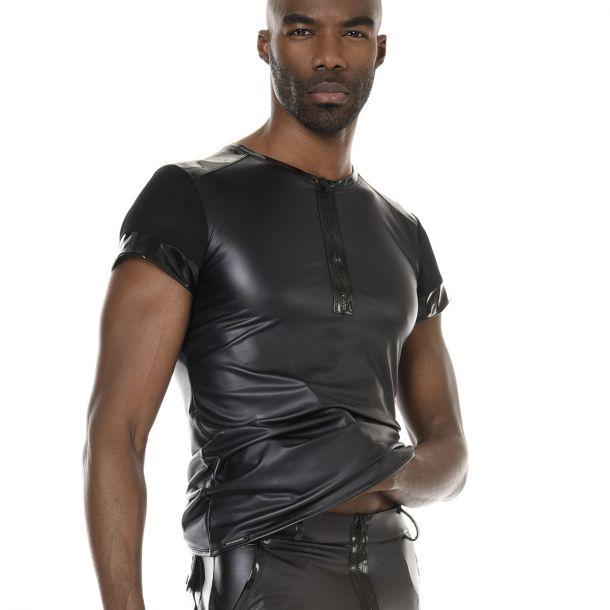 Wet Look T-Shirt TOM - Black*