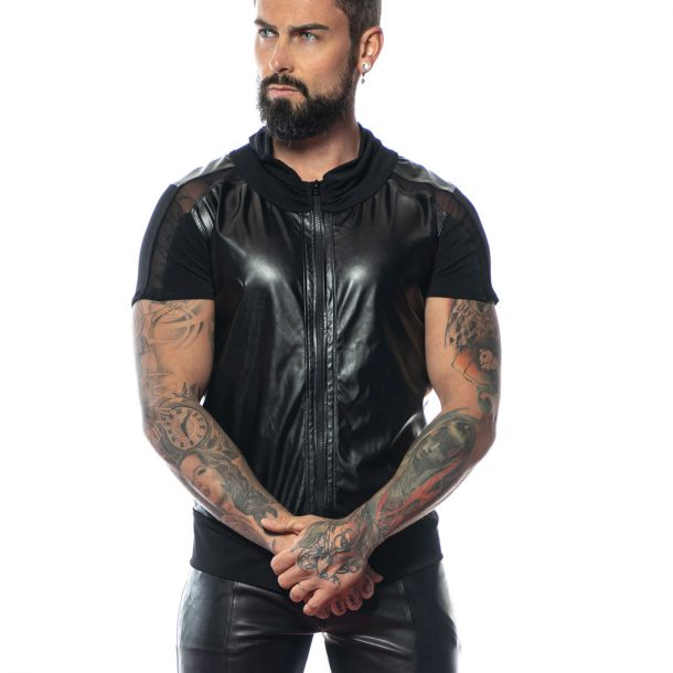 Faux Leather Shirt MAE - Black