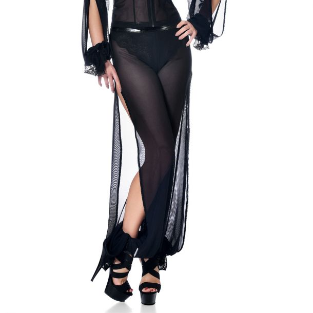 Transparent Mesh Pants GEORGIA - Black