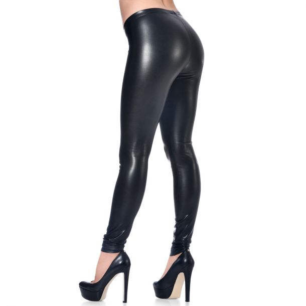 VERA Faux Leather Leggings - Black