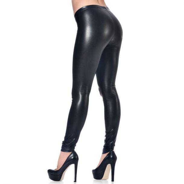 VERA Faux Leather Leggings - Black*