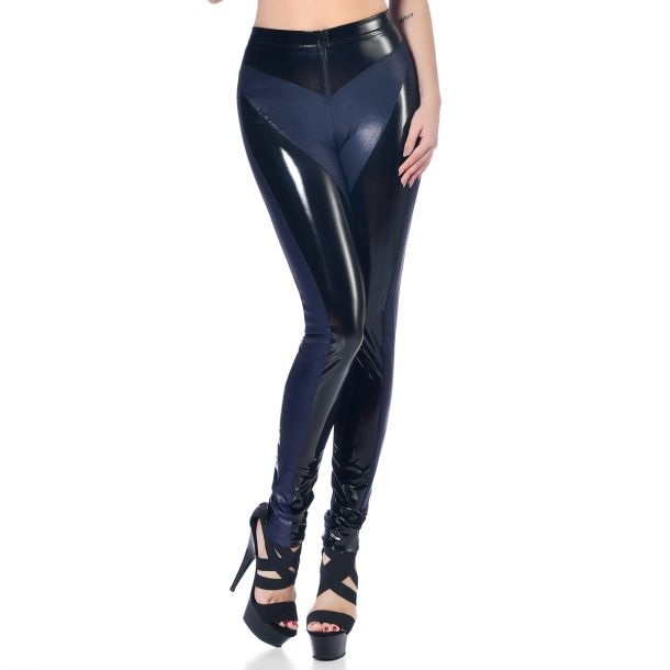 Vinyl Pants BRIDGET - Black