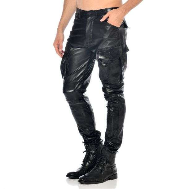 Faux Leather Pants BRONN - Black