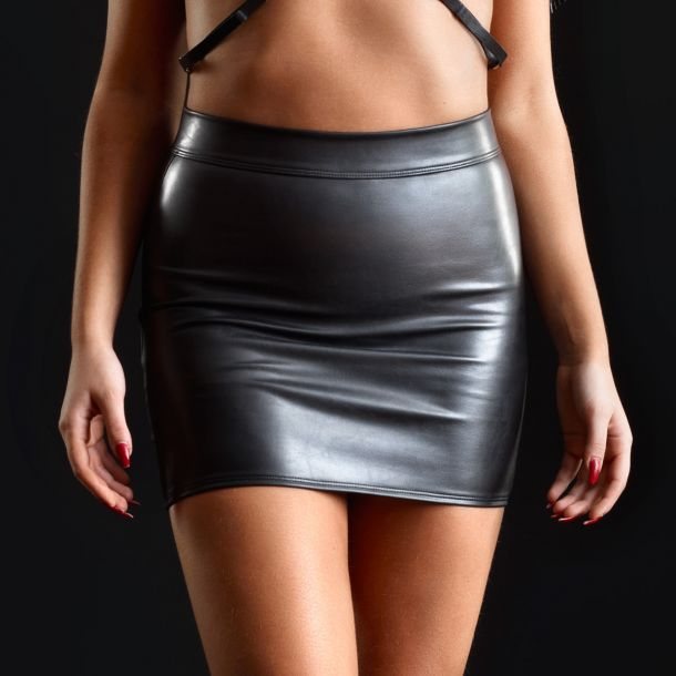 Faux Leather Mini Skirt REGLISSE