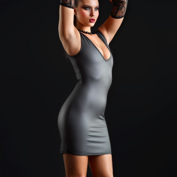 Neoprene Mini Dress TABITHA - Black