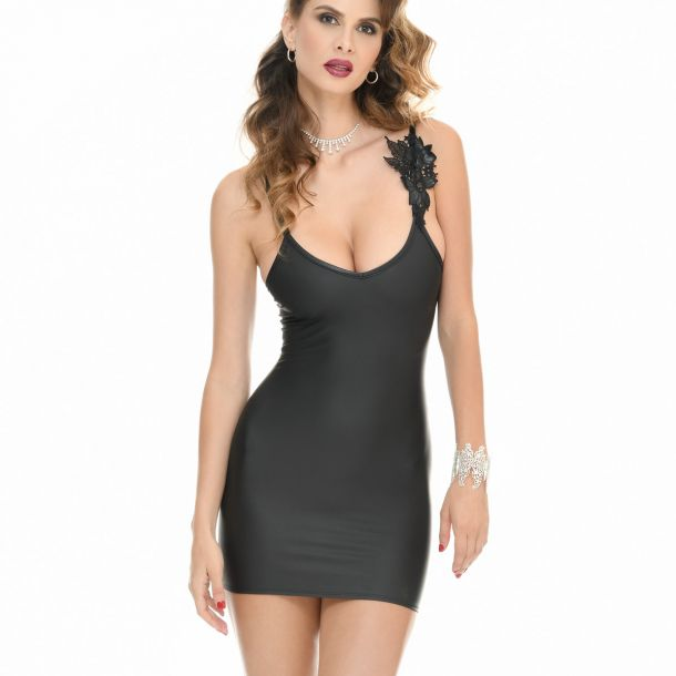 Neoprene Strap Mini Dress ABYS*