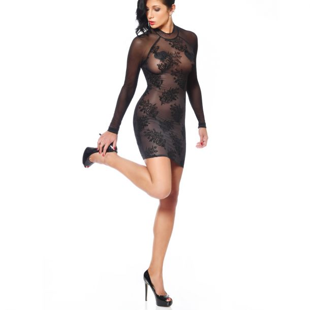 Mesh Minidress AGNIEZKA - Black