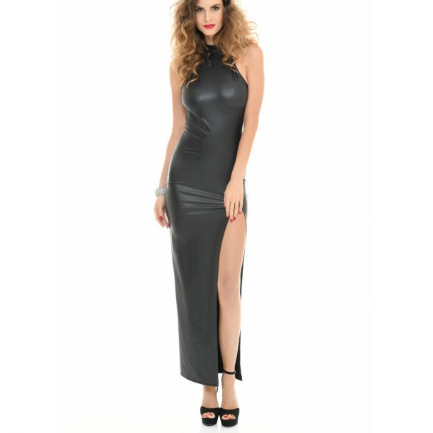Backless Wetlook Dress POUSSYCAT - Black