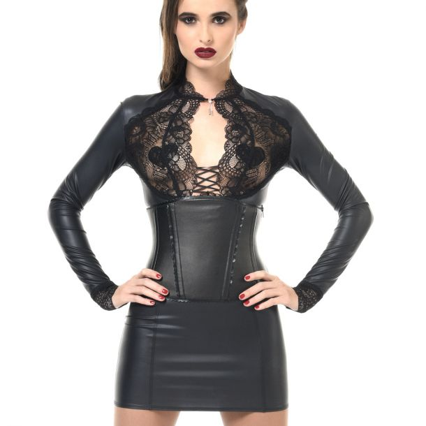 Wet Look Mini Dress ELISA