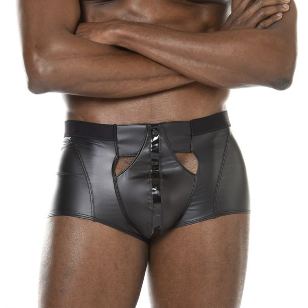 Wet Look Boxer Shorts KONAN - Black