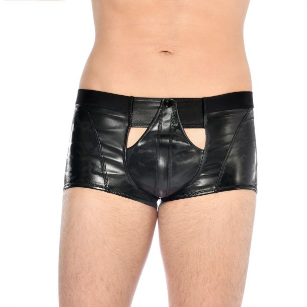 Faux Leather Boxer Shorts NED - Black