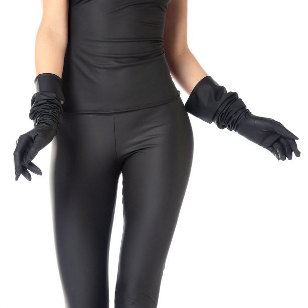 Long Neoprene Gloves - Black*