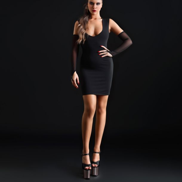 Stretch Mini Dress BRITTANY - Black
