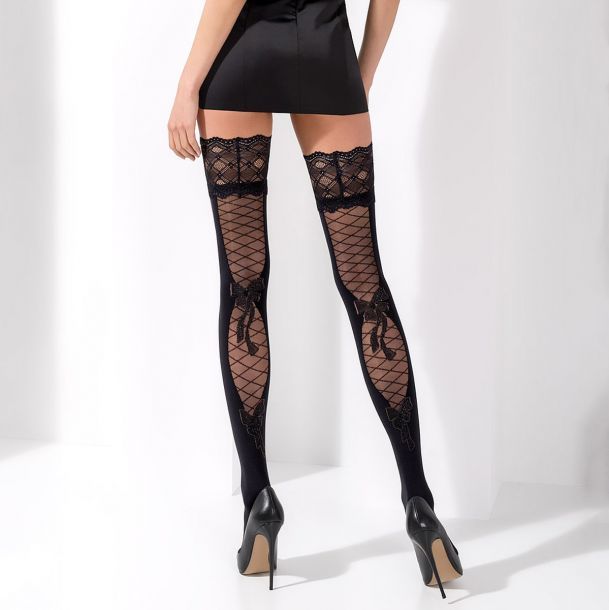 Hold-Up Stockings ST025 - Black*