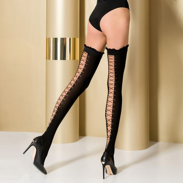 Hold-Up Stockings ST101 - Black*