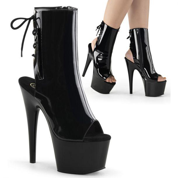 Platform ankle boots ADORE-1018 - Patent Black