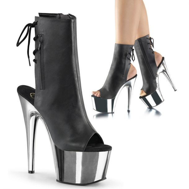 Platform Ankle Boots ADORE-1018 - Black/Silver