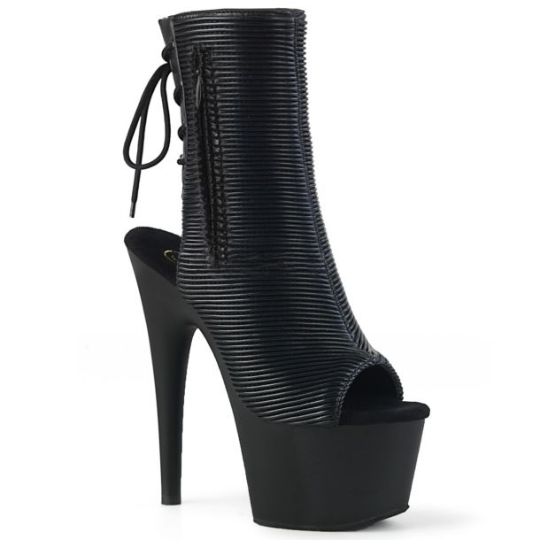 Platform Ankle Boots ADORE-1018 - Black Quilted