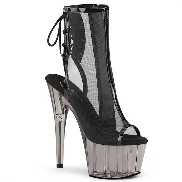 Platform Ankle Boots ADORE-1018MSHT - Black Mesh