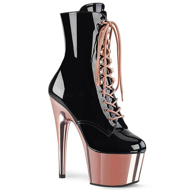 Platform Ankle Boots ADORE-1020 - Black/Rose Gold