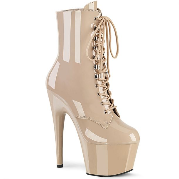 Platform Ankle Boots ADORE-1020 - Patent Nude