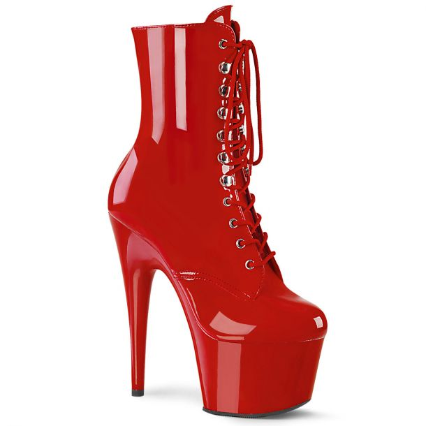 Platform Ankle Boots ADORE-1020 - Patent Red