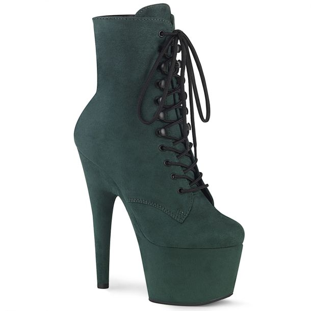 Faux Suede Platform Ankle Boot ADORE-1020FS - Emerald