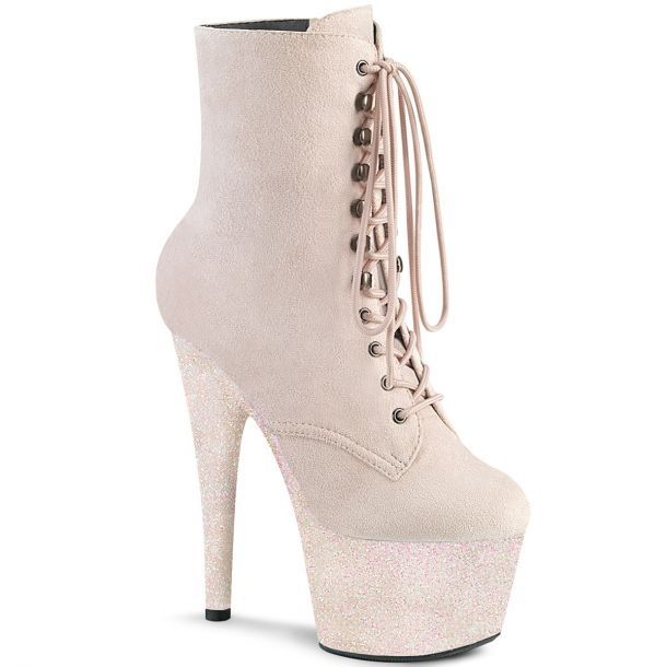 Lace Up Platform Ankle Boots ADORE-1020FSMG - Opal Pink
