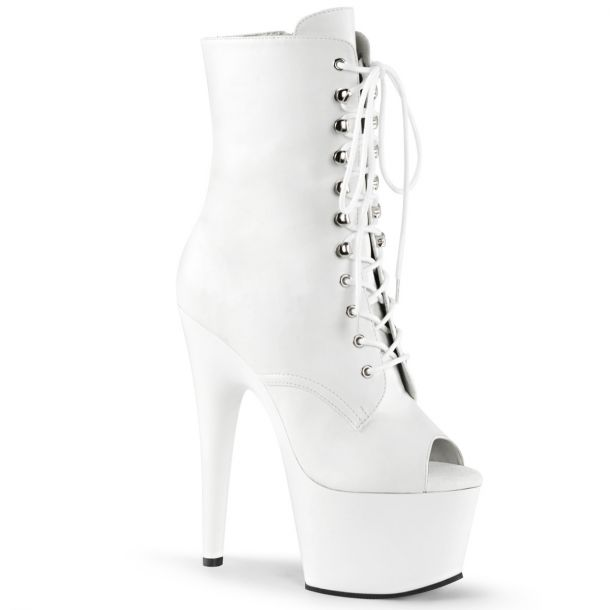 Platform ankle boots ADORE-1021 - White