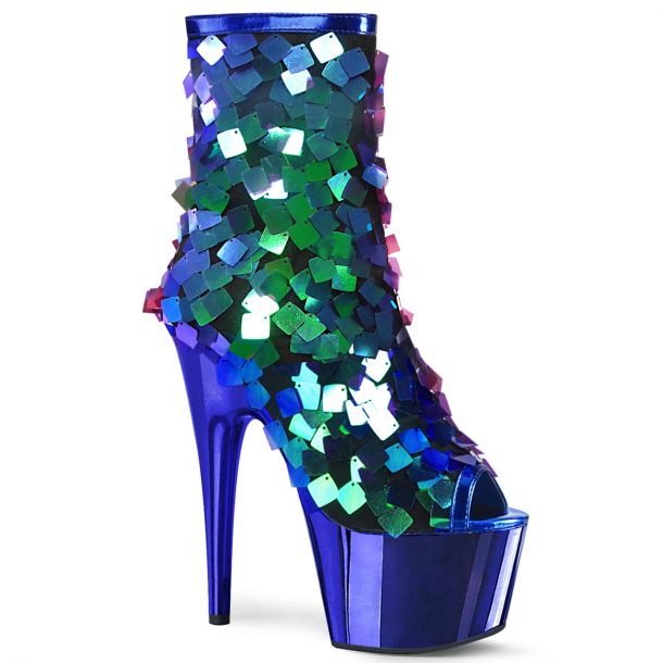 Platform Ankle Boots ADORE-1031SSQ - Blue/Green