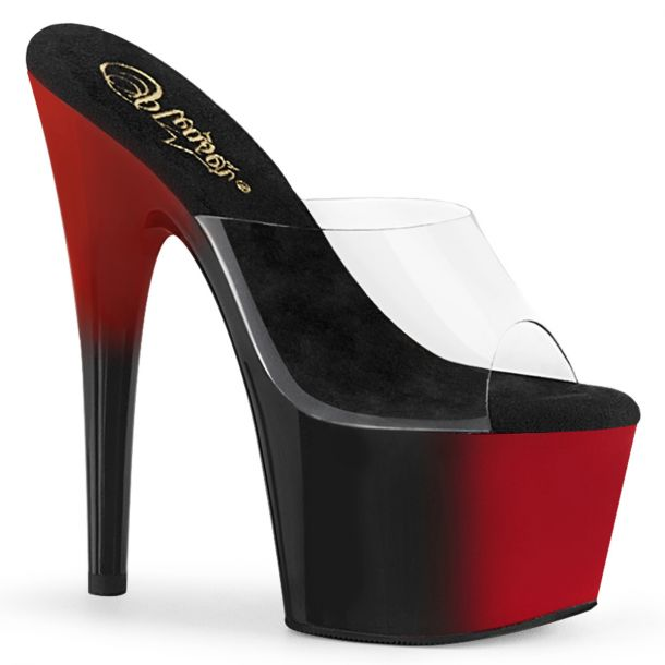 Platform High Heels ADORE-701BR - Black / Red*