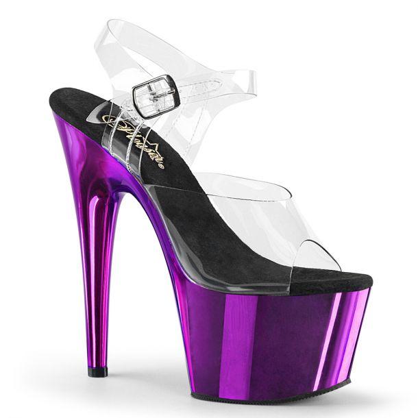 Platform High Heels ADORE-708 - Purple