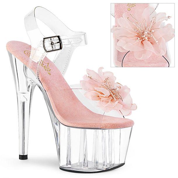 Platform sandal ADORE-708BFL - Clear/Baby Pink