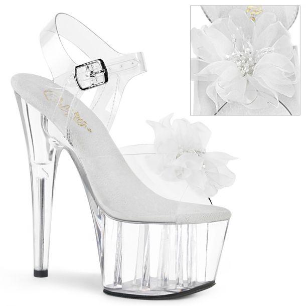 Platform sandal ADORE-708BFL - Clear/White
