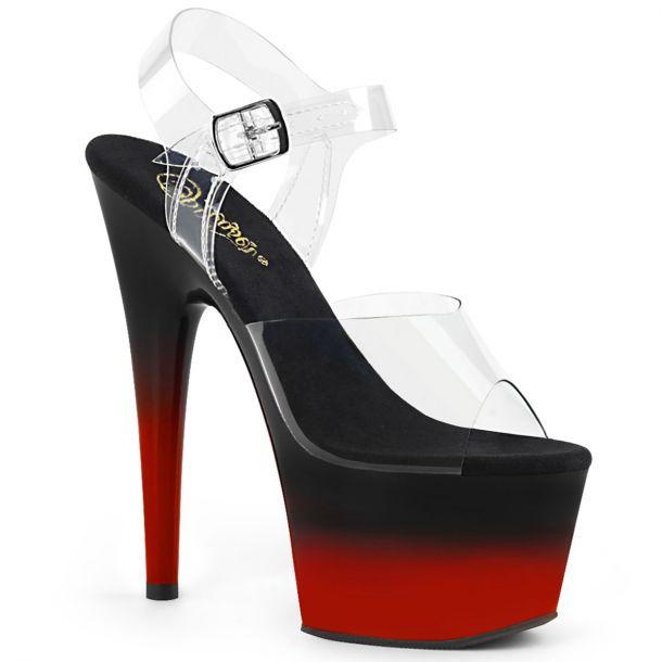 Platform High Heels ADORE-708BR-H - Black / Red