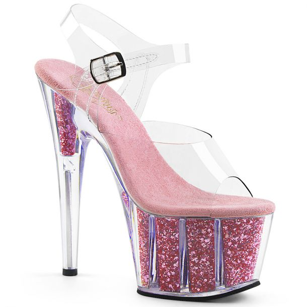 Platform High-Heeled Sandal ADORE-708G - Baby Pink
