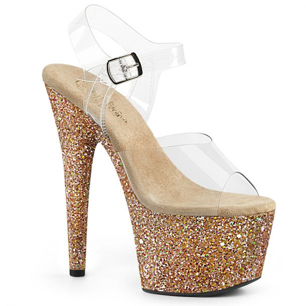 Platform High Heels ADORE-708LG - Rose Gold