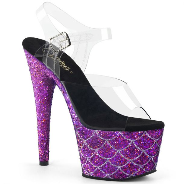 Platform High-Heeled Sandal ADORE-708MSLG - Purple