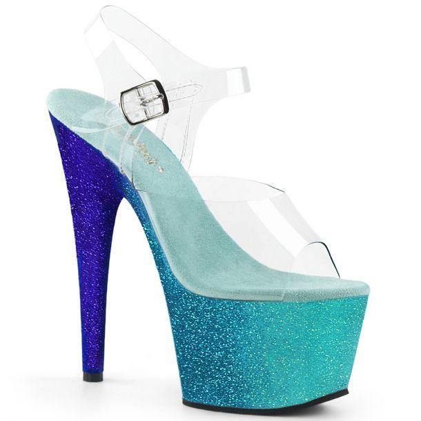 Platform High Heels ADORE-708LG - Aqua/Blue
