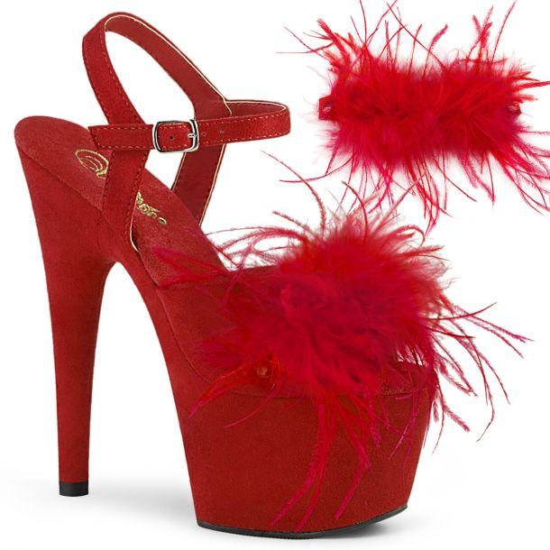 Platform High Heels ADORE-709F - Red