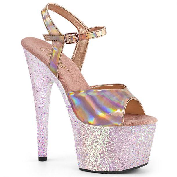 Platform High Heels ADORE-709HGG - Rose Golden