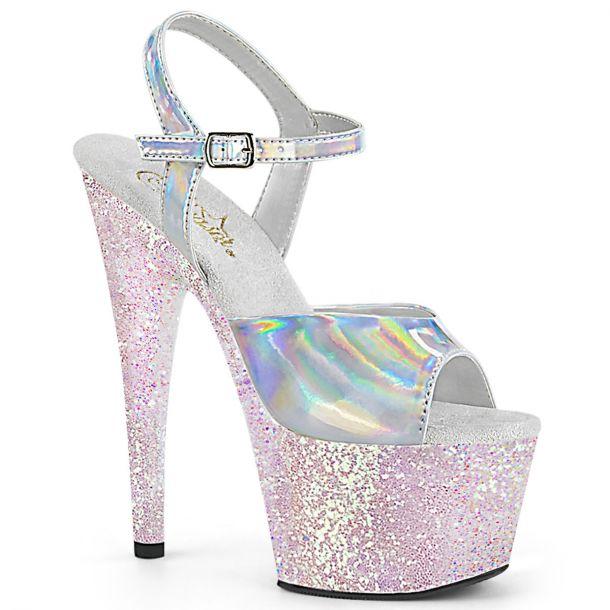 Platform High Heels ADORE-709HGG - Silver