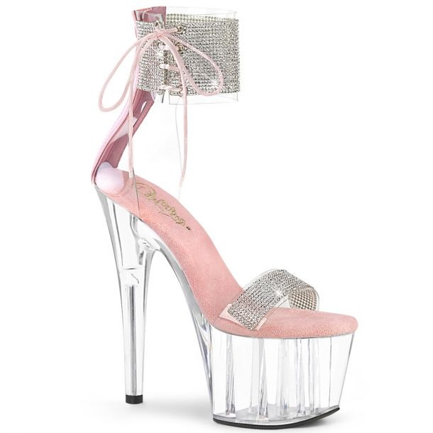 Platform High Heels ADORE-727RS - Clear/Baby Pink*