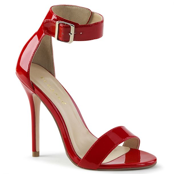 High-Heeled Sandal AMUSE-10 - Patent Red
