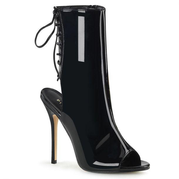Stiletto Ankle Boots AMUSE-1018 - Patent Black